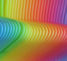 Colorful Slinky by Michael Rubin