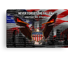 NEVER FORGET THE FALLEN  09/11/01 Canvas Print
