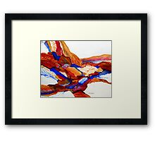 Primary Hues Stonescape Framed Print