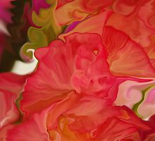 Gladiolus Abstract  by Michelle BarlondSmith
