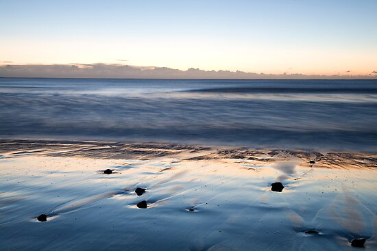 Ballyconnigar beach at dawn, County Wexford, Ireland by Ian Middleton
