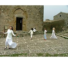 Dancing with teacher Photographic Print
