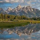 Teton Range Reflected in the Snake River by Jeff Goulden