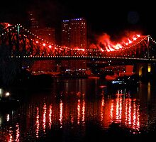 Story Bridge Burning by TraceJ