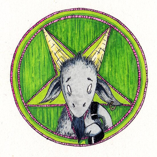 Bashful Baphomet by Paul Compton