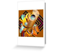 Industrial activity in space Greeting Card