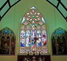 The Sanctuary, Trinity Anglican Church, Cornwall, Ontario. by Mike Oxley