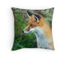 Vixen Alert   (Red Fox) Throw Pillow