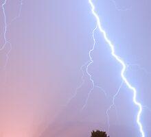 Lightning in Ljubljana, Slovenia by Ian Middleton