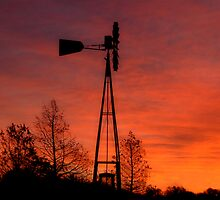 Windmill at sunset by Slaughter58
