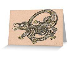 Dancing Alligator Greeting Card
