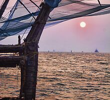 Fort Cochin, Kochi, India - Chinese Fishing Nets by Scootarts