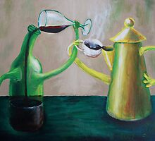 Oil Painting - Let's drink to.. , 2009 by Igor Pozdnyakov