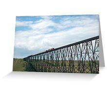 Train on the Bridge Greeting Card