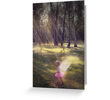 """Woodland Angel"" - A Tribute To Breast Cancer Awareness Greeting Card"
