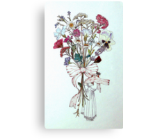 Bouquet of Flowers and Child Canvas Print