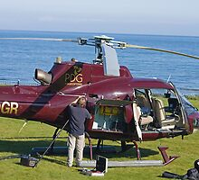 Helicopter field maintenance by Jon Lees