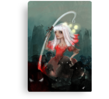Lolly bo peep and her bleeting phantom sheep Canvas Print