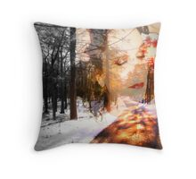 Road to the Sun (layered) Self Portrait Throw Pillow