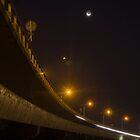 Tauranga Harbour bridge at night 2 by Paul Mercer