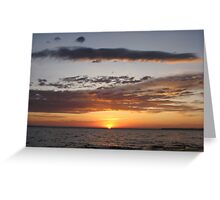 Early Morning Sunrise Over The lake Greeting Card