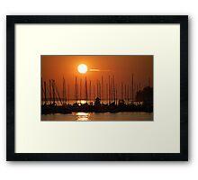 Sunset Over The Marina Framed Print