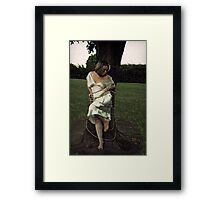 Unhappy girl, tear your web away, saw through all your bars, melt your cell today. You are caught in a prison of your own device. Framed Print