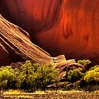 Rock Reflection - Uluru by Hans Kawitzki