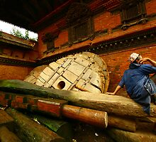 Bhairab's Charriot - Bhaktapur by Jennifer and Paul Cave