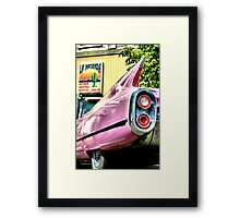 pink caddy stops for legal advice Framed Print