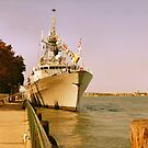 HMCS Ville de Quebec 1 by Barry W  King