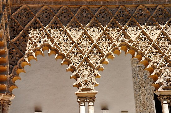 Laces at Seville - THE REAL ALCAZAR arches by Daniela Cifarelli