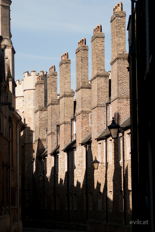 Chimney Silhouette (Cambridge) by evilcat