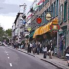 Quebec City, rue de Buade by Brenda Dow