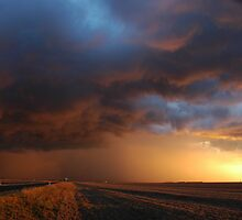 Dalby Sunset Storm by Michael Bath