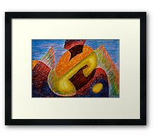 Eggistential Framed Print