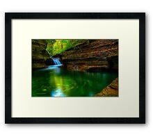 The Buttermilk Cascades 6 (hdr) Framed Print