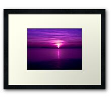 As Twilight meets Sunset Framed Print