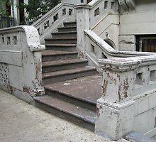 Old Rowhouse Steps by ElyseFradkin