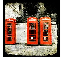 telephone booths Photographic Print