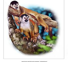 RED-BACKED SQUIRREL MONKEY 6 by DilettantO