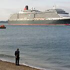 Watching Cunard's Queen Victoria leave Southampton Water, southern England by Philip Mitchell