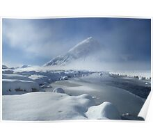 Buachaille Etive Mhor and Winter Snow, Glen Coe,Scotland. Poster