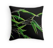 wet bamboo Throw Pillow