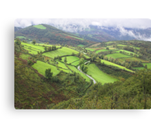 green hills of Galicia Canvas Print