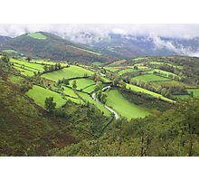 green hills of Galicia Photographic Print