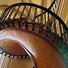 Curved,Carved Stairway by David DeWitt