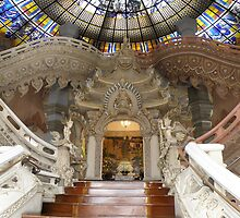 staircase at erawan museum by peaka3