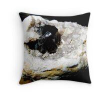 Smokey Quartz Crystal in a Geode Throw Pillow