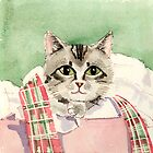 Christmas Cat by arline wagner